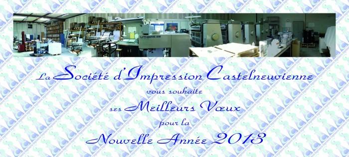 voeux 2013 - SIC Imprimerie, imprimeur Loiret (45)